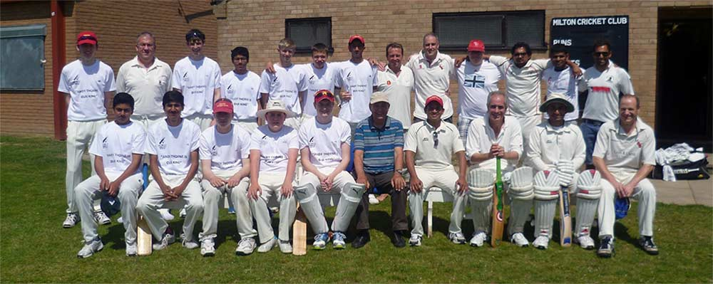 Milton Cricket Club Cambridgeshire team photo