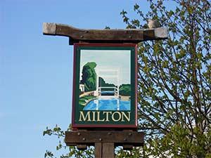 Milton Village sign